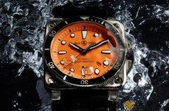 柏莱士BR03-92潜水表新增橘面限量数更少还限点发售